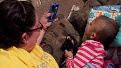 Jalene uses Facetime to talk to Taylor Swift.