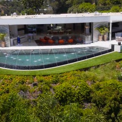 A view of the lavish Beverly Hills digs.