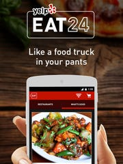 Yelps's Eat24 Android mobile app.