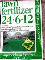 The numbers on a bag of fertilizer indicate the percentages