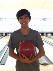 Evan Duenas, 12, claimed the first Guam National Bowling Championship in the Youth division, Aug. 6, 2017.
