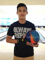 Frank Manibusan Jr., 15, claimed the first Guam National Bowling Championship in the Classified Masters division, Aug. 6, 2017.