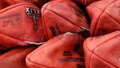 Underinflated Super Bowl XLIX footballs.
