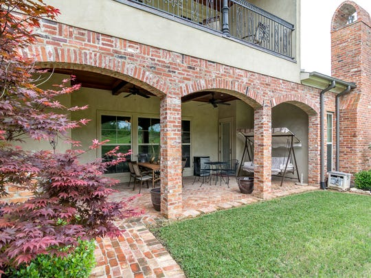This Southern Trace home offers a large rear patio