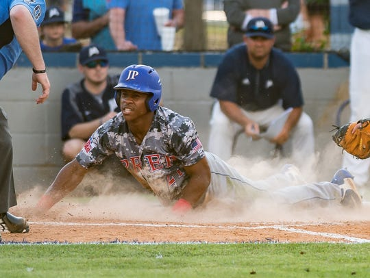 Jackson Prep's Jerrion Ealy scores a run against Jackson