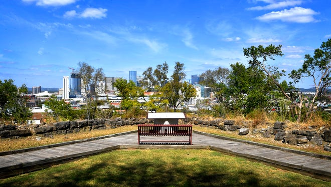Exploring Ft. Negley can be an interesting history lesson, as well as a great place to enjoy the Nashville skyline.