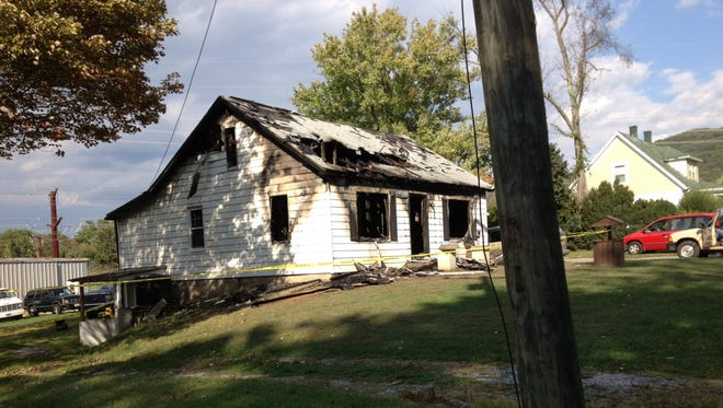 The house at 698 Dooms Crossing Road was destroyed in an early morning fire that killed an 11-year-old boy who lived in the home  Sept. 30, 2012.