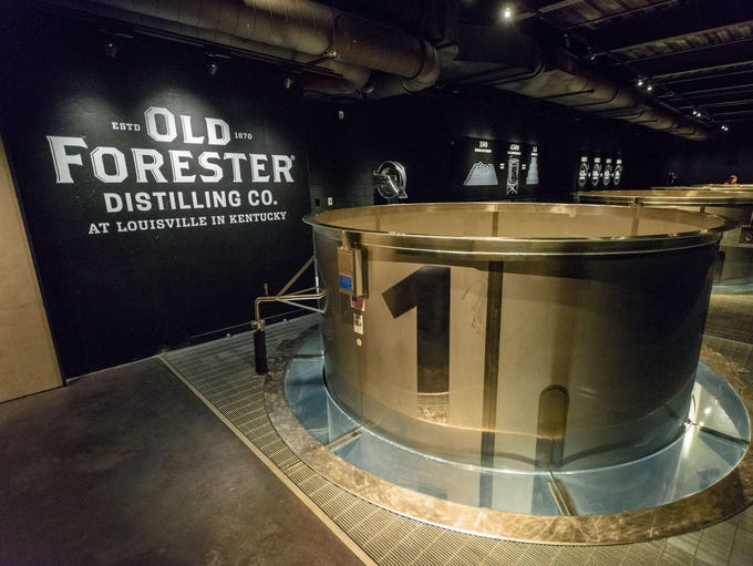 The fermentation area at the Old Forester Distilling