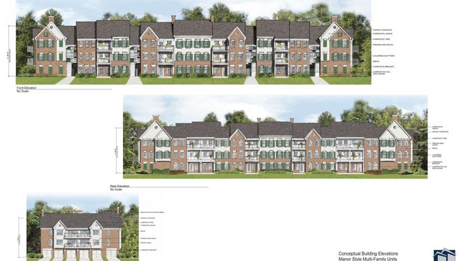 A rendering of what some of the apartments might look like.