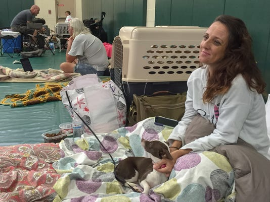 Hurricane Matthew pet friendly shelter