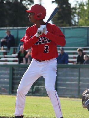 Ray Kerr bats during a game over the summer with the Peninsula Oilers.