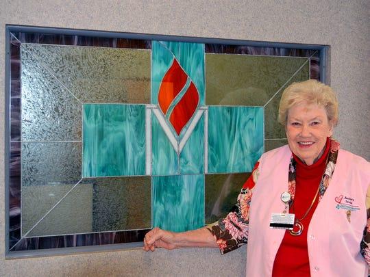 Nettie Bible, 85, has been a volunteer at Methodist