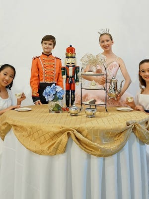 """From left, Laura Wascomb, Alexei Orohovsky, Annabelle Thrash and Connor Batson are part of South Mississippi Ballet Theatre's 2017 production of """"The Nutcracker."""""""