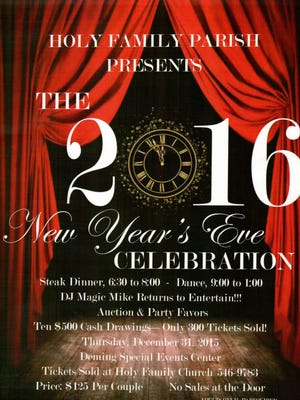 Ring in the New Year with Holy Family Catholic Church.