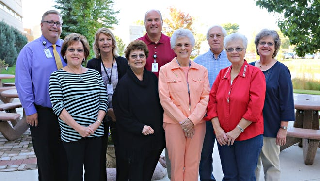 Meals on Wheels volunteers serve 64 residents in the Beaver Dam area. In the front row, from left, are Mary Ann Neuman, Kathy Dries, Gail Hope-Henschel and Ruth Schmidt. In back are Jim Feil, Laurie Schroeder, Dan Moritz, Bob Zamzow and Linda Zamzow.