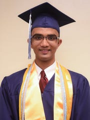 Sai Gogineni, Harvest Christian Academy Class of 2017 co-valedictorian.