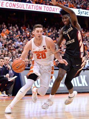 Pine Plains' Tyler Lydon is shown in this Jan. 28 file photo playing for Syracuse against Florida State at Syracuse's Carrier Dome.