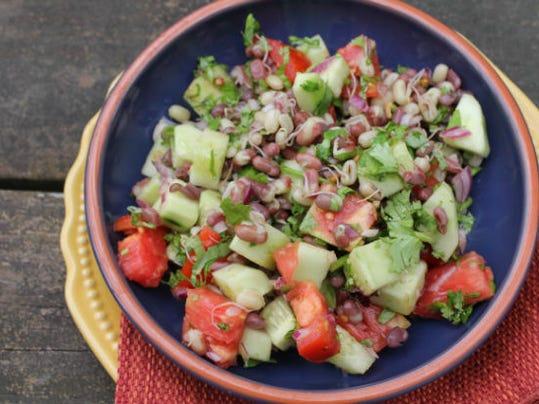bean salad millet and aduki bean salad adzuki bean salad is seen in ...