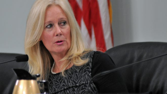 Brevard County Commissioner Trudie Infantini voted against a decrease in County property taxes for the coming year, citing budget issues.