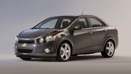 The Chevrolet Sonic is one of four models the brand's social media strategy is targeting.