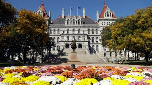 The state Capitol is seen on Tuesday, Oct. 18, 2016, in Albany, N.Y.