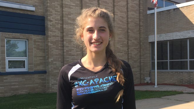 Kali Karl is one of the veteran members of the Auburndale girls cross country team which is ranked No. 1 in this week's Divsiion 3 state poll.