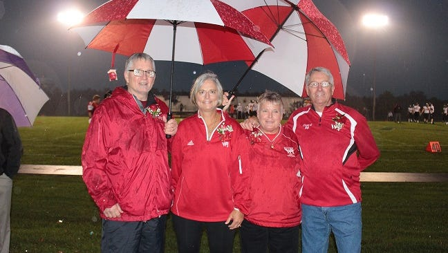 Bill Vickroy, Keri Karner Siekert, Terri Larson and Greg Ebsen were inducted into the Lincoln High School Athletic Hall of Fame on Friday, Oct. 6, 2017.