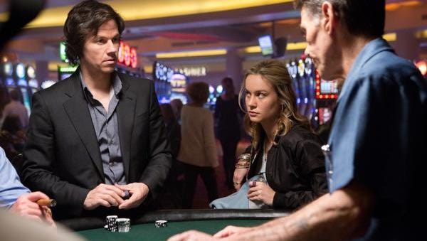 """In this image released by Paramount Pictures, Mark Wahlberg, left, and Brie Larson appear in a scene from """"The Gambler."""""""