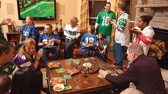Mind your manners at the Super Bowl party.