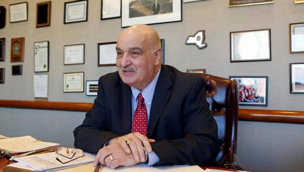 Yonkers school superintendent Michael Yazurlo talks about his career, which started in the district, in his office Jan. 16, 2015 in downtown Yonkers.