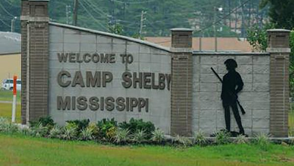 Camp Shelby in Forrest County