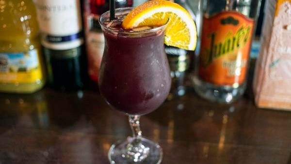Using a number of ingredients including mango puree, triple sec, brandy, grenadine and Merlot, the Sangria at Mojitos is made in batches and served chilled. 5/20/15