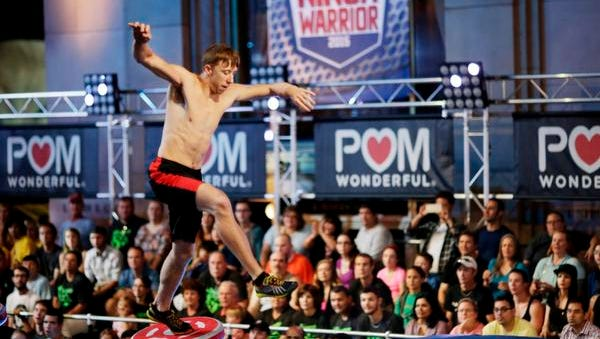 "Bobby Zavala competes on ""American Ninja Warrior"" in the Orlando, Florida, qualifier."