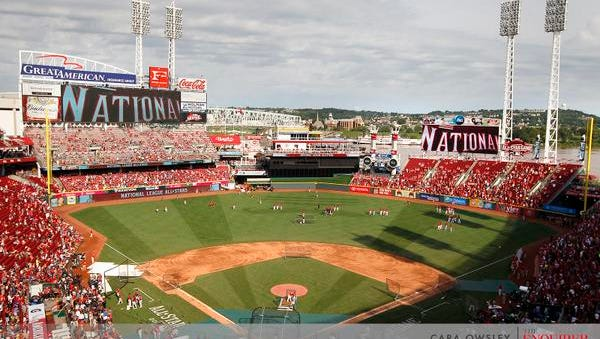 Great American Ball Park, seen before the Home Run Derby on Monday, will play host to the All-Star Game.