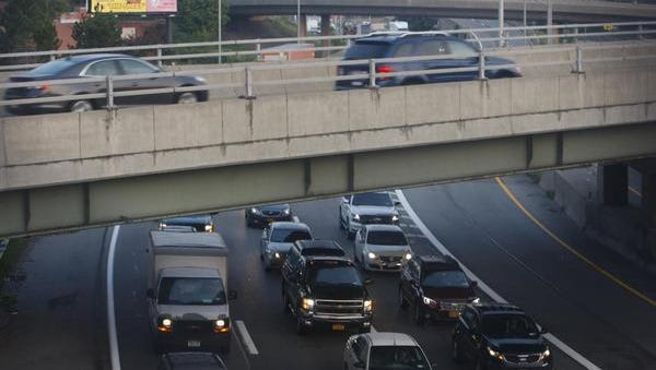 Traffic delays on I-490W after cabbage truck crash Monday.