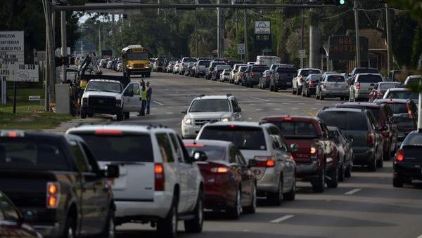 Traffic in Pensacola.