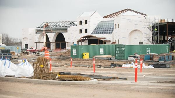 Construction continues on del Lago Resort & Casino  in Tyre, Seneca County.