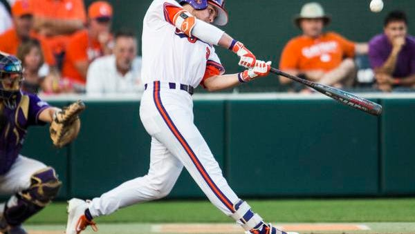Clemson's Seth Beer connects for a homer during the third inning Friday against Western Carolina.