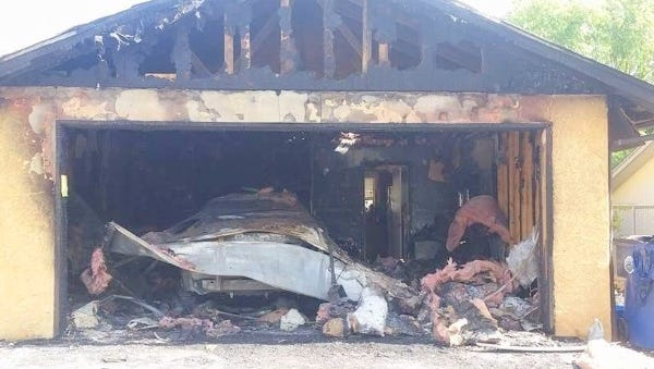 A fire destroyed the home of GRMC paramedic Jeff Hobbs on North Loop over the weekend.