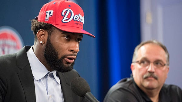 Andre Drummond talks about signing his five-year contract on Friday.