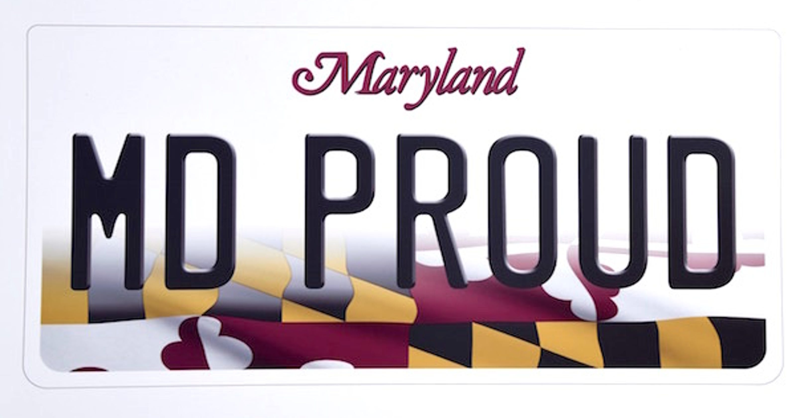 Flag New License Featured Plate Maryland On