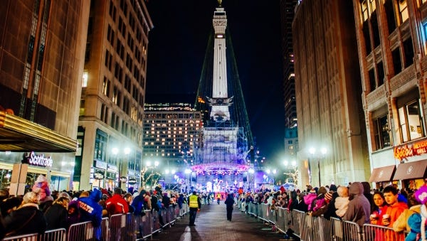 One of the highlights of each holiday season in Central Indiana is the awe inspiring display of lights adorning Monument Circle in Downtown Indianapolis.