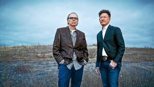 Singer-songwriters Lyle Lovett, right, and John Hiatt team up for a show in Collingswood.