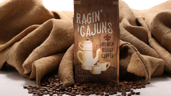 Mello Joy and the University of Louisiana at Lafayette unveiled a new Ragin' Cajuns French roast coffee Monday.