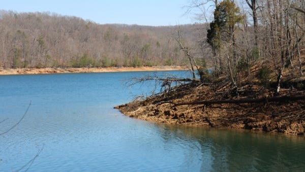 The trails at Norris Dam State Park provide views of the lake in winter.