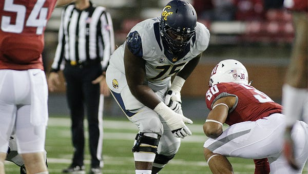 California left tackle Aaron Cochran was on Auburn's campus this past weekend. The 6-foot-6, 350-pound offensive tackle plans to graduate in May and play final season for another school.
