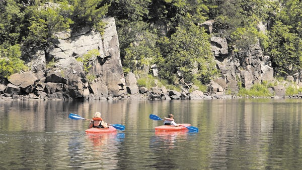 Kayaking the St. Croix River.