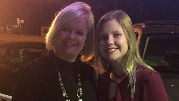 Layne Chesney (right) suffered third-degree burns over 95 percent of her body Sunday.