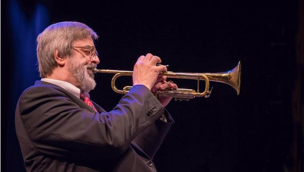 Jack Shantz will play his trumpet Thursday with the 17-piece Mansfield Jazz Orchestra.