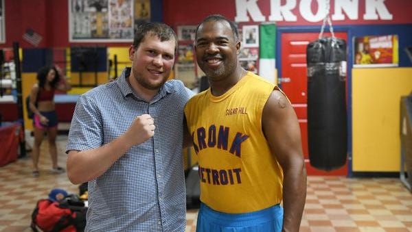 Promoter Dmitriy Salita, left, and trainer Javan Hill are working to restore Detroit's rich boxing history at Kronk's newest home on the city's northwest side.